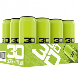 3D ENERGY 473ml  Green x 12 Cans