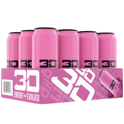 3D ENERGY 473ml Pink Cotton Candy  x 12