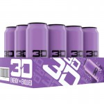 3D ENERGY 473ml Purple x 12 Cans