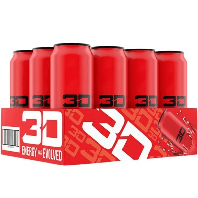 3D ENERGY 473ml Red Candy x 12