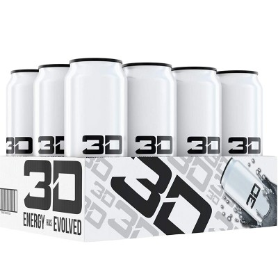3D ENERGY 473ml White x 12  Cans