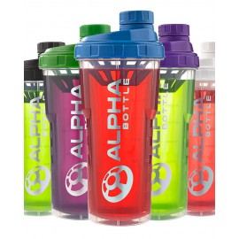 ALPHA BOTTLE 750 SHAKER WITH CURVED BOTTOM - ALL COLOURS