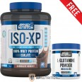 Applied Nutrition Whey Isolate ISO - XP 2kg + FREE 250g Glutamine + Shaker