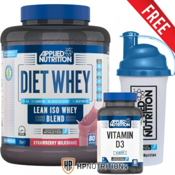 Applied Nutrition Diet Whey 2kg + Vitamin D3 90 Tabs + Shaker