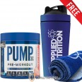 Applied Nutrition Pump 3G Pre Workout 375g + FREE Metal Shaker + Gym Towel