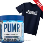 Applied Nutrition Pump 3G Stim Free Pre Workout 375g + FREE TEE