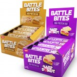 Battle Bites Protein Bars 62g x 12