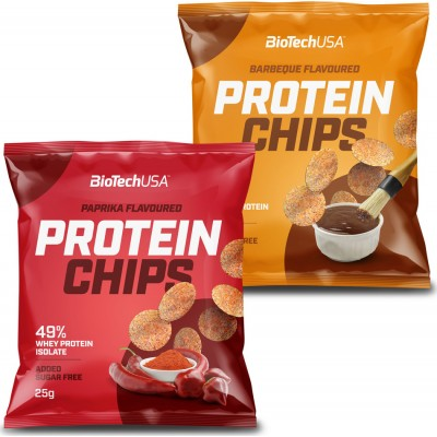 Biotech USA Protein Popped Crisps - Box of 10 x 25g *Whey Isolate *