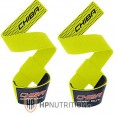 CHIBA - 40600 Weight / Gym Lifting Straps Neon Yellow