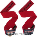 CHIBA - 40600 Weight / Gym Lifting Straps Red
