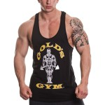 Golds Gym Muscle Joe Premium Stringer Vest - Black