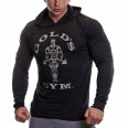 Golds Gym Mens Long Sleeve Hooded Lightweight Top