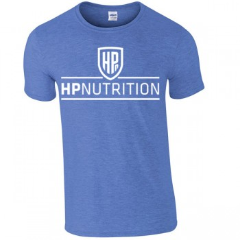HPnutrition Fitness T Shirt - Heather Blue + FREE NEON SHAKER