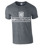 HPnutrition Fitness T Shirt - Dark Grey + FREE NEON SHAKER