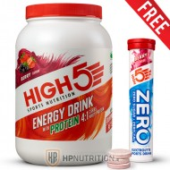 High5 Energy Drink with Protein 4:1 - 1.6kg +  FREE Zero Tabs