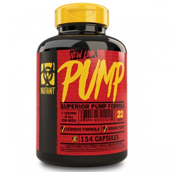 Mutant Pump Nitric Oxide Booster 154 Caps *15% OFF*
