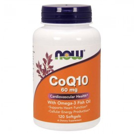 Now Foods CoQ10 60 mg with Omega 3 Fish Oils 120 Softgels