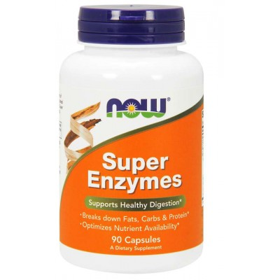 NOW Foods Super Enzymes Capsules - 90 Capsules