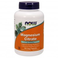 NOW Foods Magnesium Citrate 400mg  120 Veg Capsules