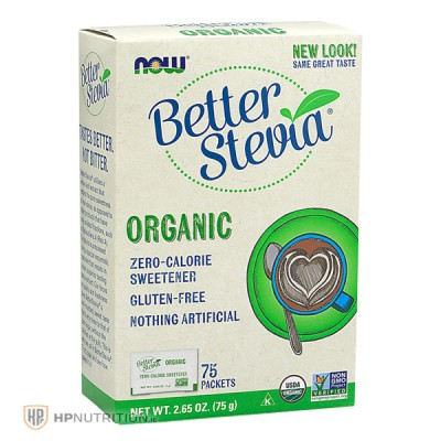 NOW Foods Better Stevia Organic (75 Packets)