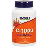 NOW Foods Vitamin C 1000mg Sustained Released with Rose Hips - 100 Tabs