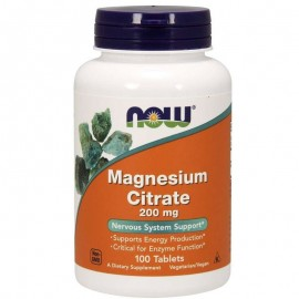 NOW Foods Magnesium Citrate 200mg 100 Tablets