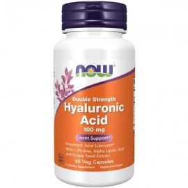 NOW Foods Hyaluronic Acid Double Strength 100mg - 60 Veg Capsules