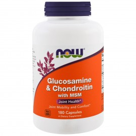 NOW Foods Glucosamine & Chondroitin with MSM Joint Health -180 Capsule