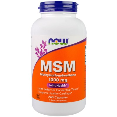 NOW Foods MSM 1000mg *Joint Support*  - 240 Veg Capsules