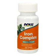 NOW Foods Iron Complex Vegetarian - 100 Tablets