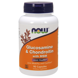 NOW Foods Glucosamine & Chondroitin with MSM Joint Health - 90 Caps