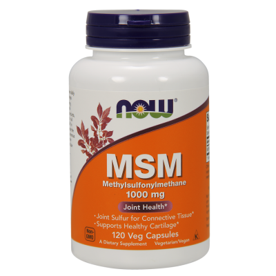 NOW Foods MSM 1000mg *Joint Support* - 120 Veg Caps