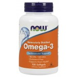 NOW Foods Molecularly Distilled 1000mg Omega 3 -100 Softgels