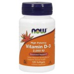 NOW Foods Vitamin D3 2000 IU - 120 Softgels