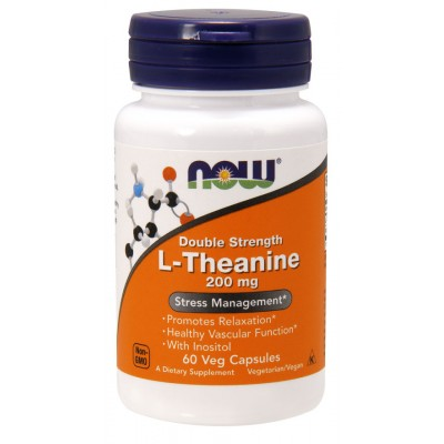 NOW Foods L-Theanine 200 mg - 60 Veg Capsules