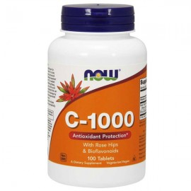 NOW Foods Vitamin C 1000mg with Rose Hips & Bioflavonoids  - 100 tablets