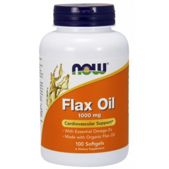 NOW Foods Organic Flax Oil 1000mg - 100 Softgels