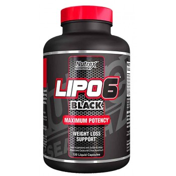 Nutrex Lipo 6 BLACK FAT BURNER - 120 Caps  *25% OFF*