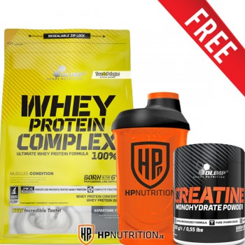 Olimp Whey Protein Complex 100% - 2.27kg + FREE Creatine 250g & Shaker