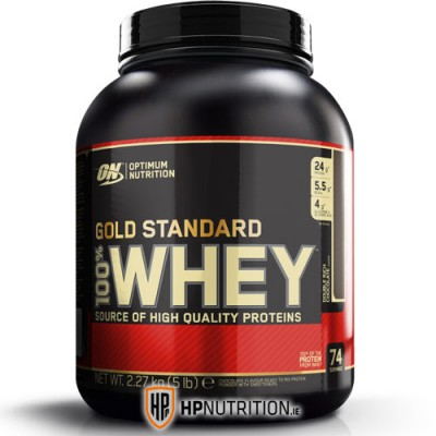 Optimum Nutrition Gold Standard Whey Protein 2.27kg ( *Dented Tub -Fully Sealed )