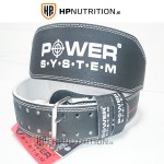 "Power System Weight Lifting 4"" Leather Belt Power Basic 3250 25% OFF"
