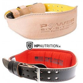 """Power System ELITE Weight Lifting 6"""" Leather Belt PS-3030"""