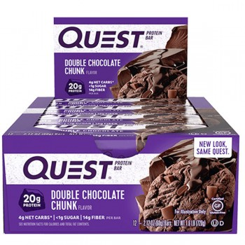 Quest Nutrition Protein Bars - Box of 12 *Double Chocolate Chunk*