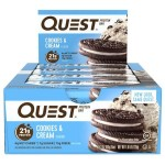 Quest Nutrition Protein Bars - Box of 12 *COOKIES & CREAM