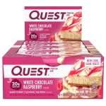 Quest Nutrition Protein Bars - Box of 12 *WHITE CHOCOLATE RASPBERRY*