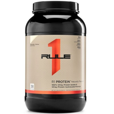 Rule1 Naturally Flavoured R1 Whey Protein Isolate & Hydrolysate 1.16kg