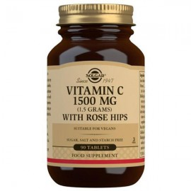 Solgar Vitamin C 1500mg with Rose Hips - 90 Tablets