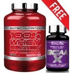 Scitec Nutrition - 100% Whey Protein Professional 2.35Kg + FREE BCAA 120 Caps