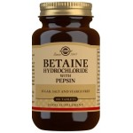 Solgar Betaine Hydrochloride with Pepsin Tablets - Pack of 100