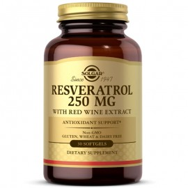 Solgar Resveratrol 250mg with Red Wine Softgels - Pack of 30